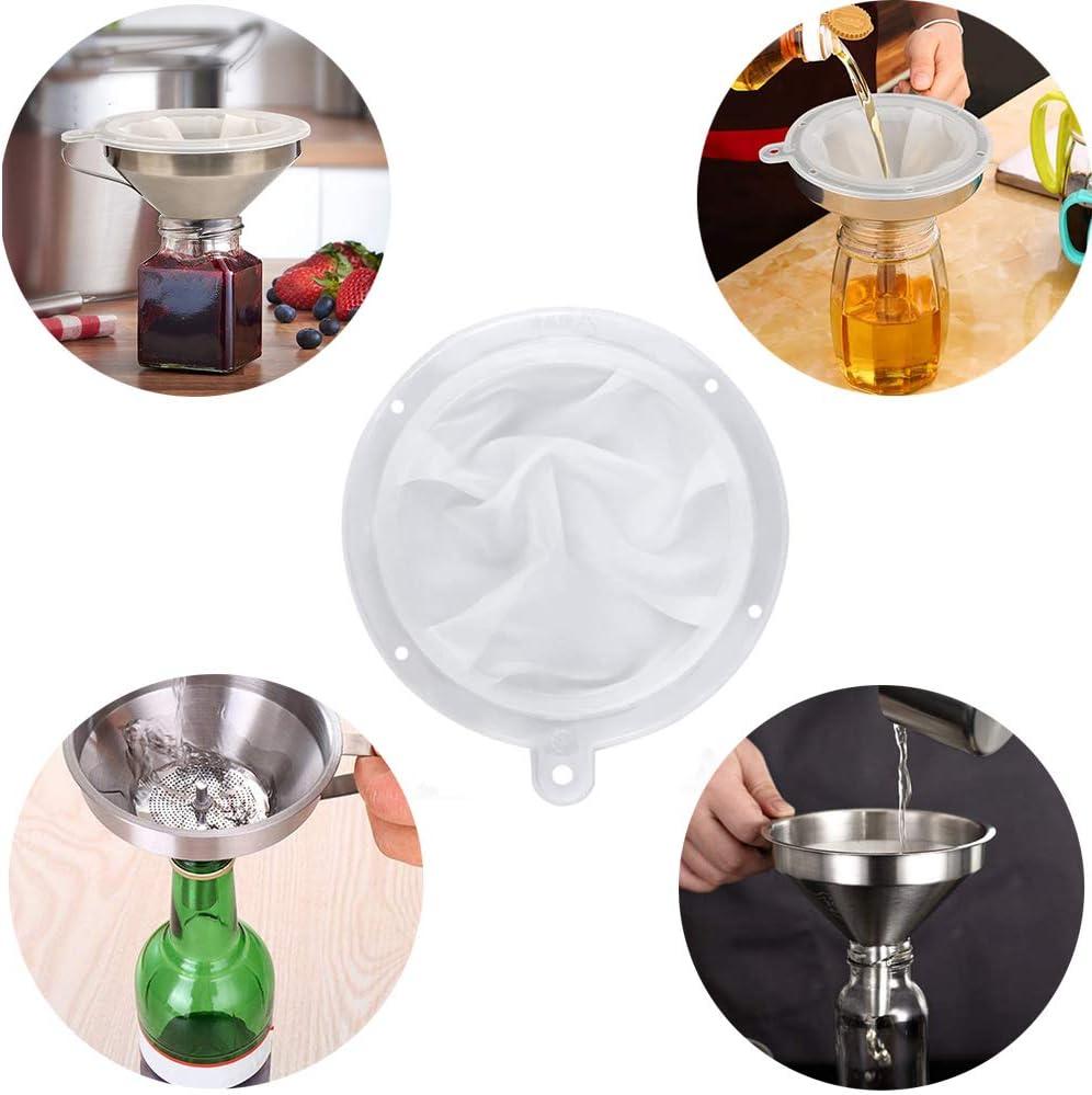 Entonnoir /à Caf/é Ensemble de Filtres /à Entonnoir /à Mailles Filtre de Cuisine Compatible avec Tamis Maille /à vin Entonnoir de Cuisine 2 Pi/èces Hpamba Filtre Entonnoir et Passoire /à Jus de Cuisine Lait