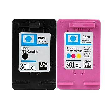 cartucho de tinta Liku técnicas 2X HP 301XL para HP Deskjet ...