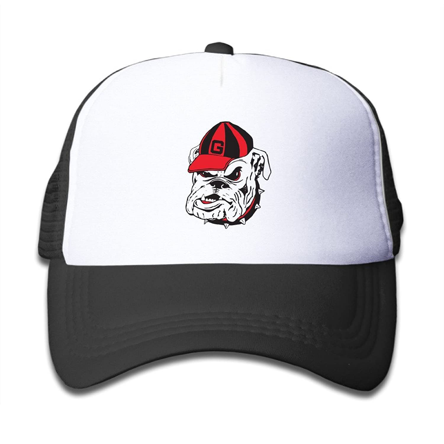 KIDDOS Youth Toddler Kids Adjustable Hat - University Of Georgia Bulldogs Bulldog Outdoor Hat Cap Black