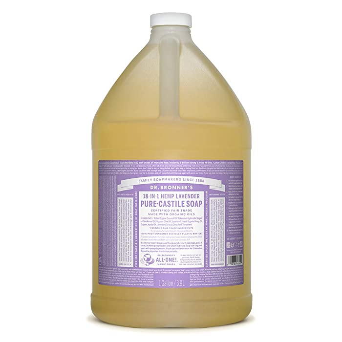 Dr. Bronner's - Pure-Castile Liquid Soap (Lavender, 1 Gallon)