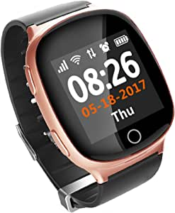 FensAide Ancianos Rastreador GPS Gimnasio Reloj Inteligente con ...