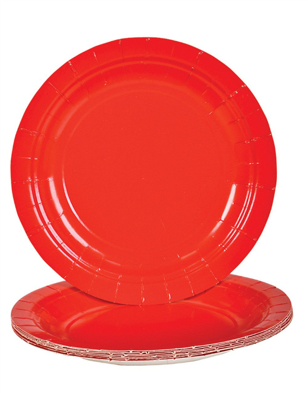 Red Dessert Paper Plates (25 pc) by Rhode Island Novelty (Image #1)