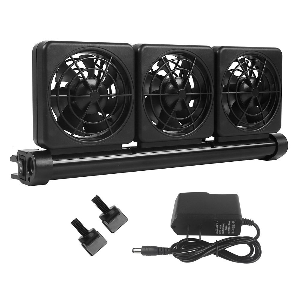 Petzilla Aquarium Chiller, Fish Tank Cooling Fan System for Salt Fresh Water