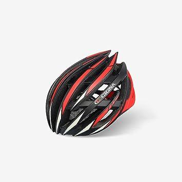 Qarape Profesión Casco de bicicleta con luz de seguridad Casco de ciclismo deportivo ajustable Cascos de