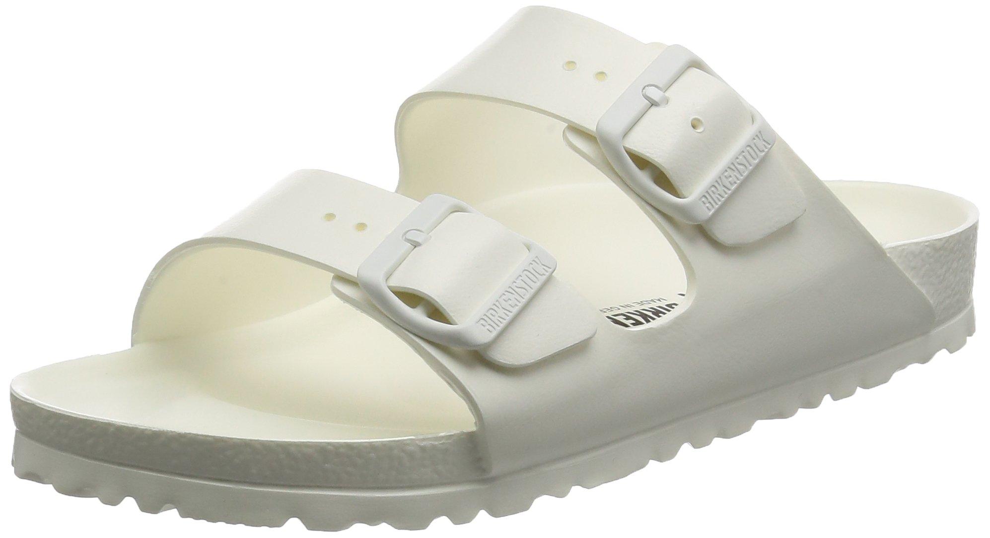 Birkenstock Unisex Arizona Essentials EVA White Sandals - 38 N EU