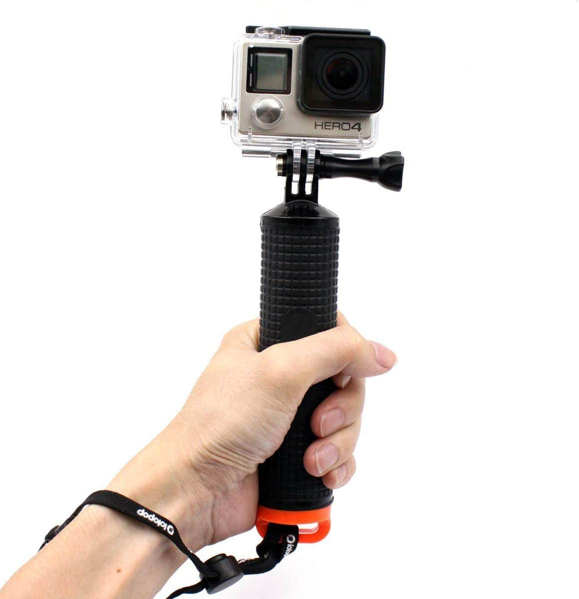 LOTOPOP Waterproof Floating Hand Grip for Gopro Hero 5 3 Handle Mount Accessories and Water Sport Pole for GeekPro 3.0 and ASX Action Pro Cameras Action Camera Accessories 4 Session 3