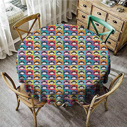 Rank-T Round Tablecloth Vinyl Clear 43