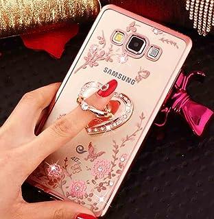Homikon Silikon H/ülle Rosa Blume TPU Tasche Bling Gl/änzend Glitzer Diamant Handyh/ülle Transparente Handytasche Durchsichtig Schutzh/ülle Kompatibel mit Samsung Galaxy A3 2016 A310 Ros/égold