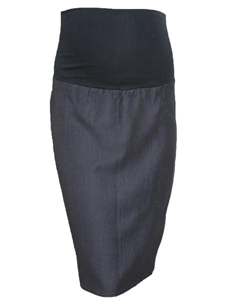 Falda tubo premamá, para embarazadas, para la oficina, disponible en tallas de la