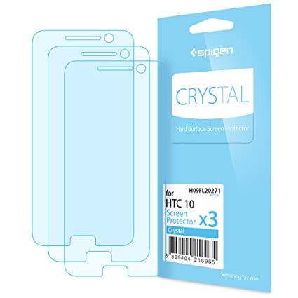 new styles d66af 94122 Amazon.com: Spigen Crystal Clear HTC 10 Screen Protector with ...