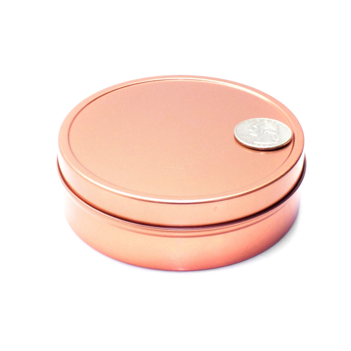 Mimi Pack ALL Shallow Solid Slip Top Tins (8 oz, Rose Gold) by Mimi Pack (Image #5)