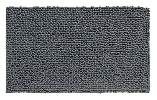 mDesign Soft Microfiber Polyester Non-Slip Rectangular Spa Mat, Plush Water Absorbent Accent Rug for Bathroom Vanity, Bathtub/Shower, Machine Washable - 30