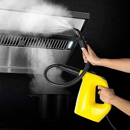 CGOLDENWALL - Máquina de Limpieza a Vapor a Alta Temperatura, 1500 W, portátil, para Cocina, Coche, automotriz, Amarillo, 110 V/220 V: Amazon.es: Hogar