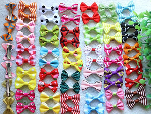 Yagopet-40pcs20pairs-New-Dog-Hair-Clips-Small-Bowknot-Pet-Grooming-Products-Mix-Colors-Varies-Patterns-Pet-Hair-Bows-Dog-Accessories