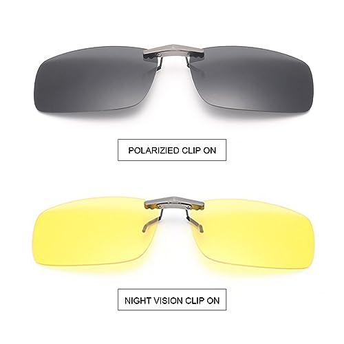 b5caa384be Tacloft - anteojos de sol unisex, rectangulares, 57 mm, polarizadas,  CLIPON2015,