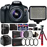 Canon EOS Rebel T6 Digital SLR with 18-55mm IS II Lens , 120 LED Light and Accessory Kit