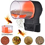 Automatic Fish Feeder Auto Aquarium Fish Tank Food Feed Electric Timer Fish Feeding for Turtle Gold Fishes Vacation Weekend Holiday