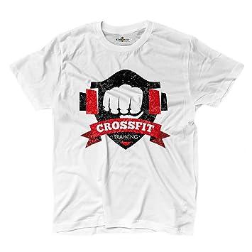 Camiseta camiseta hombre Crossfit entrenamiento gimnasio Sport entrenamiento 2 Shirts, blanco, Small