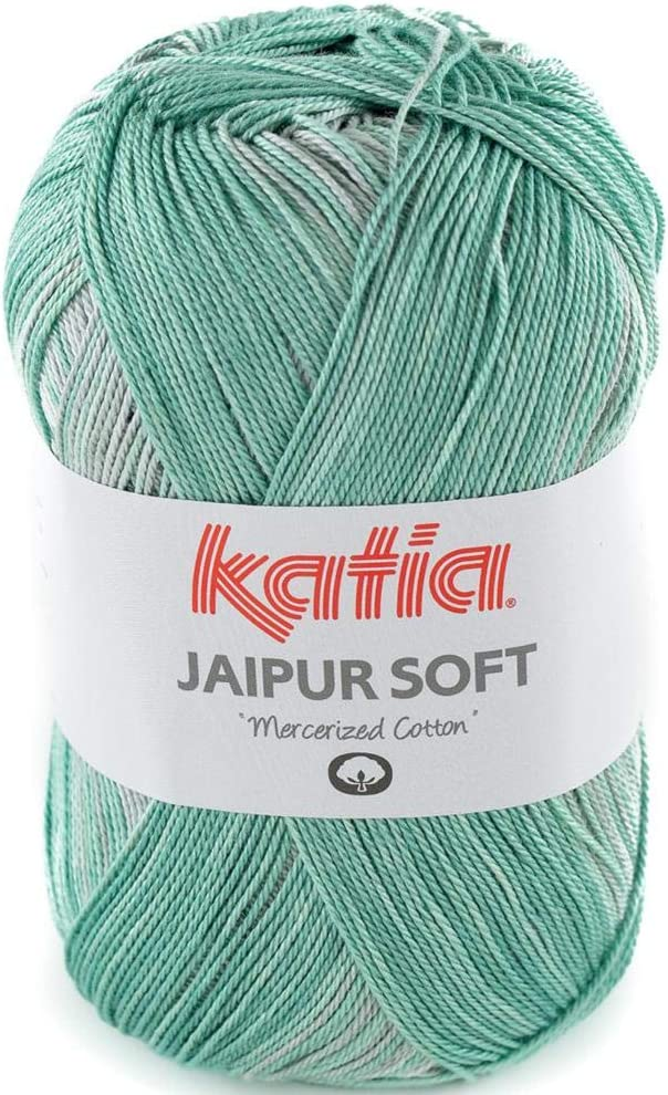Lanas Katia Jaipur Soft Ovillo de Color verdemar Cod. 101: Amazon.es: Hogar