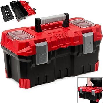 Caja de herramientas caja de herramientas caja de herramientas caja de herramientas vacía ✓ plástico ✓ abschließbar ✓ Cierres de clic de ✓ antideslizante mango ✓ muchos compartimentos: Amazon.es: Bricolaje y herramientas