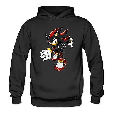 af2349e78b8 Amazon.com  JaHa Women s Sonic Shadow The Hedgehog Hoodies Black ...