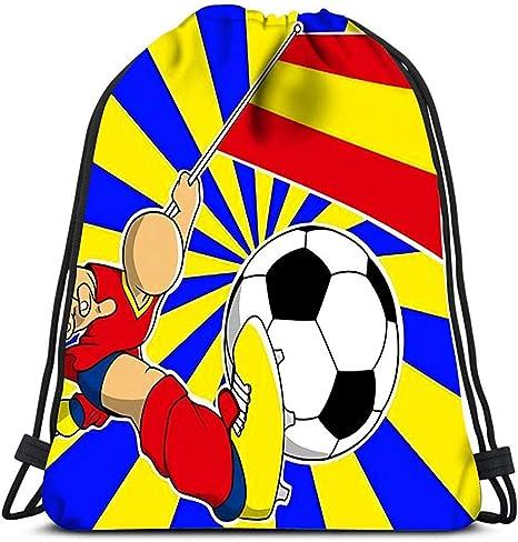 AllenPrint Mochila con Cordón,Jugador De Fútbol De España con ...