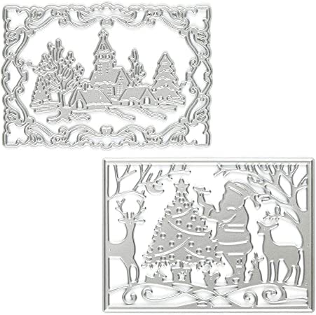Decor Merry Christmas Embossing Stencil Scrapbooking Cutting Dies Cards Making