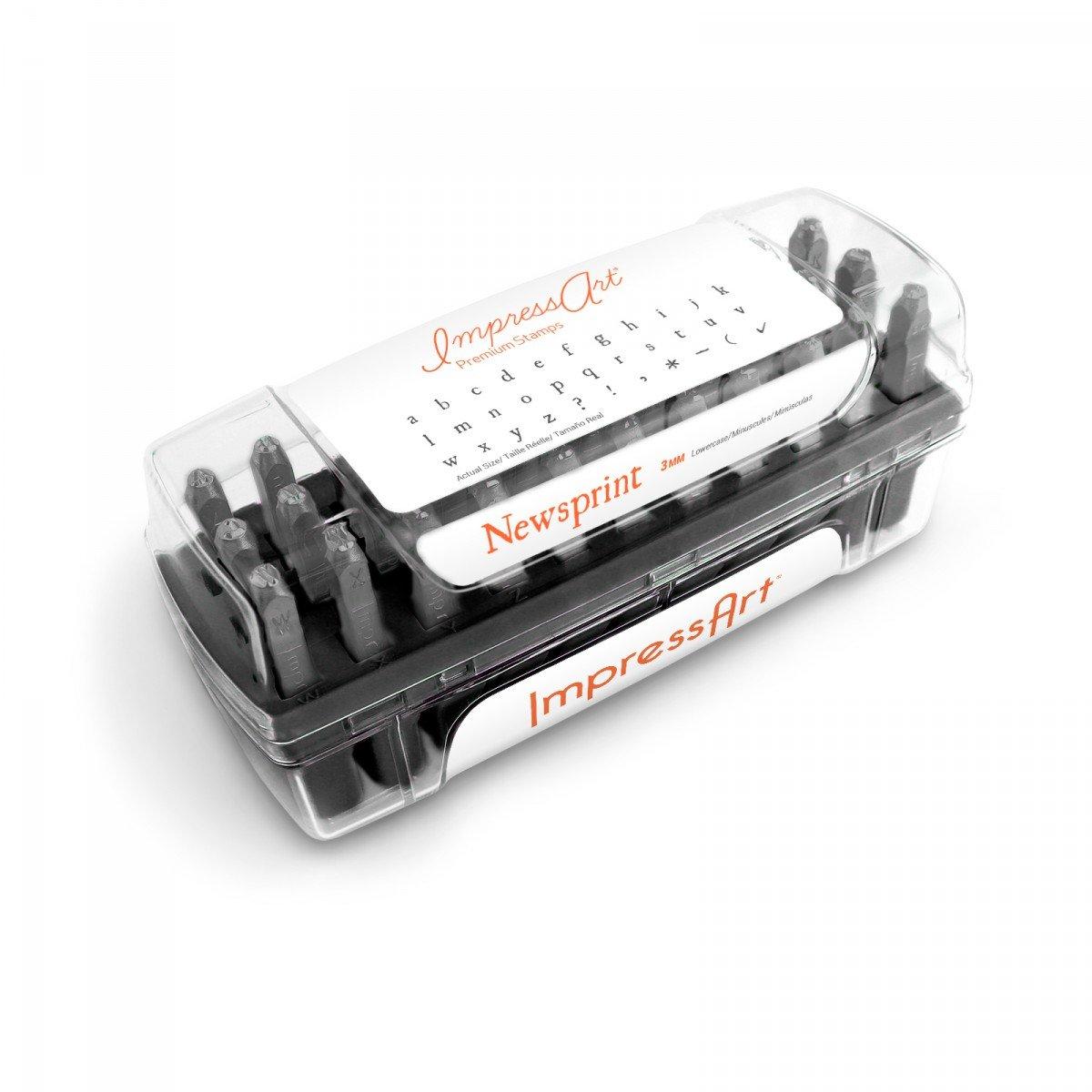 ImpressArt- Premium Newsprint Letter Stamps, Lowercase 4336839362