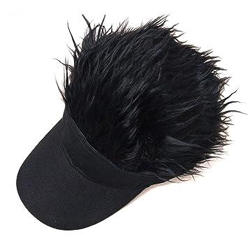 Amazon.com   Adjustable Knitted wig Peaked cap HatAdjustable Flair Hair  Visor Casquette Baseball Hat Golf Fashion Wig Cap   Beauty bd729dfe7fdc