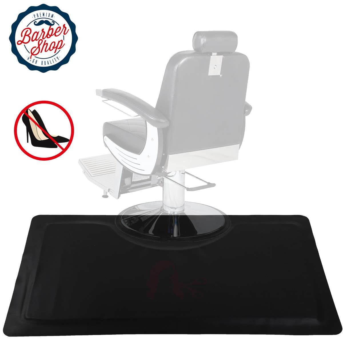 Anti Fatigue Mat Salon Mats for Hair Stylist 3 ft. x 5 ft.Barber Shop Beauty Comfort Salon Chair Mat Floor 5/8 in. Thick