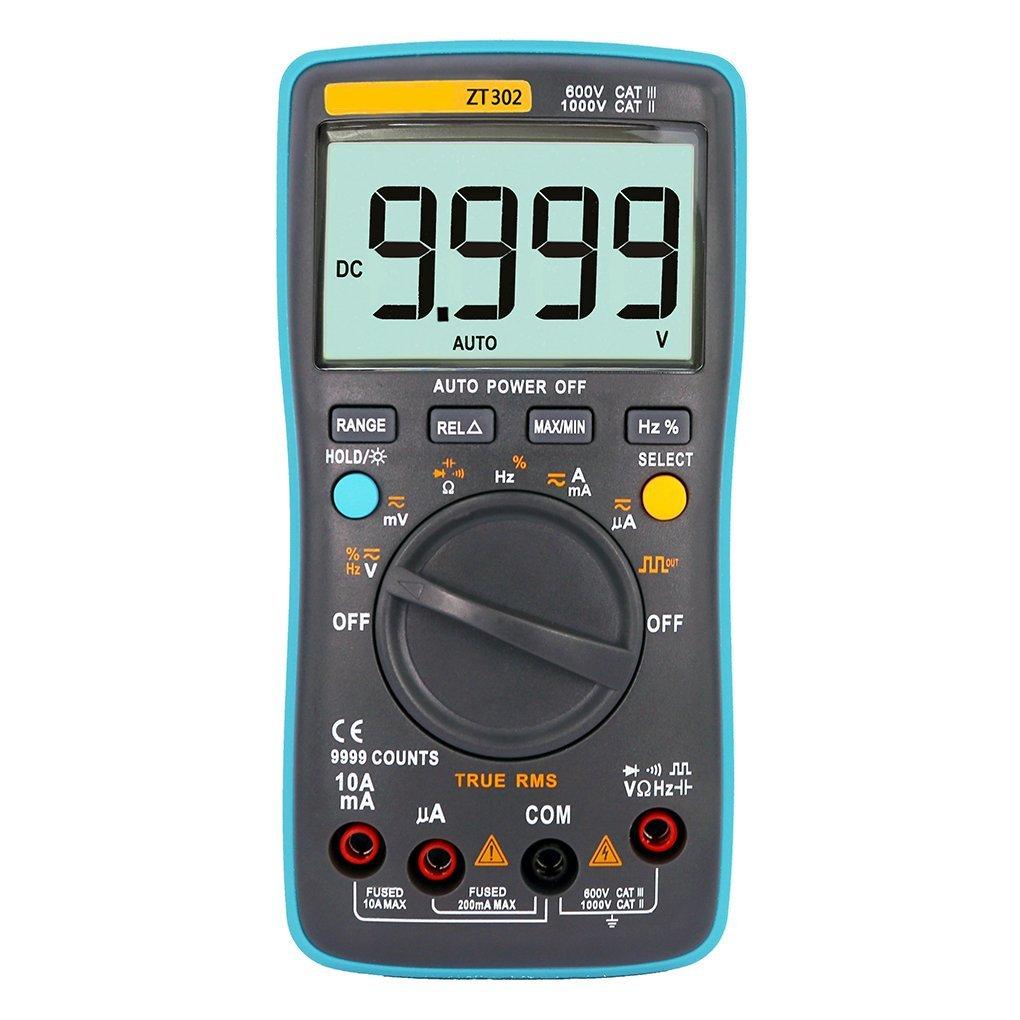 Onepeak ZT302 Portable Handheld Digital Multimeter 9999 Counts LED Backlight Large LCD Display Electrical Test Diagnostic Machine