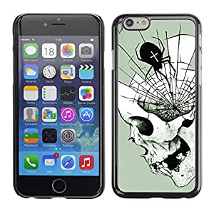 Shell-Star Arte & diseño plástico duro Fundas Cover Cubre Hard Case Cover para Apple iPhone 6 Plus(5.5 inches)( Spider Web Mind Fangs Deep Halloween )