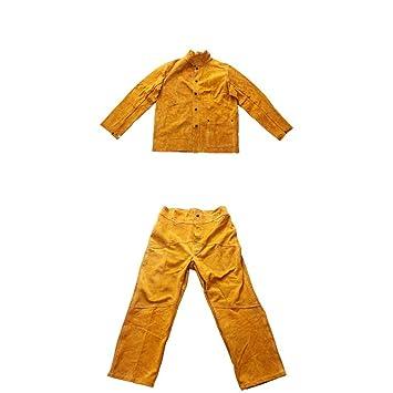 Homyl Ropa Protectora Abrigo con Pantalones Soldadura Eléctrica Terminales Kits de Instalación Eléctrica: Amazon.es: Jardín