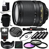 Nikon AF-S DX NIKKOR 18-105mm f/3.5-5.6G ED VR Lens + 67mm 3 Piece Filter Set (UV, CPL, FL) + 67mm +1 +2 +4 +10 Close-Up Macro Filter Set with Pouch + Lens Cap + Lens Hood + Lens Cleaning Pen Bundle
