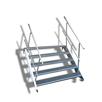 5 Niveaux De Acier Escalier Avec Garde Corps Recto Verso