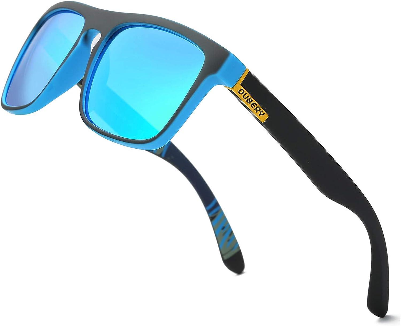DUBERY Classic Polarized Sunglasses for Men Women Retro 100%UV Protection Driving Sun Glasses D731