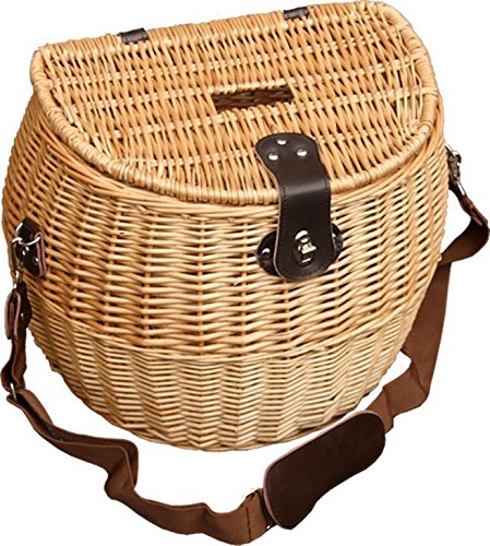 Trout Picnic Creel (Wicker Shopping Baskets Leather Handles With)