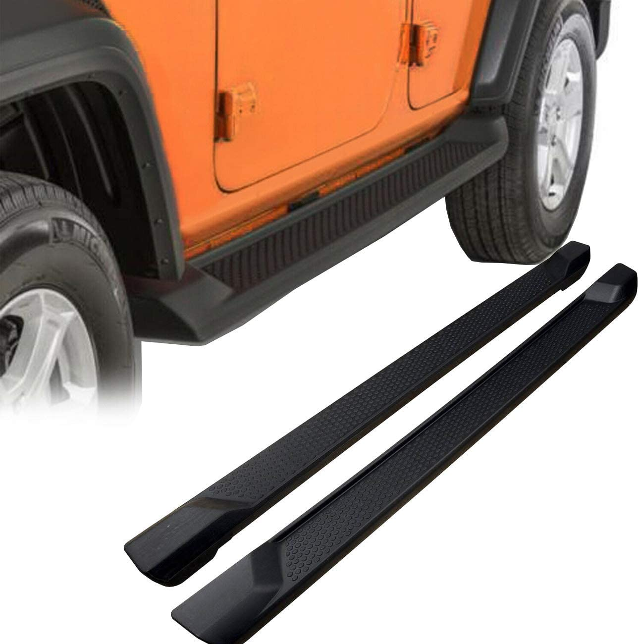 KARPAL Running Boards Side Step Bars w//Mounting Hardware Compatible With 2018 2019 Jeep Wrangler JL 2 Door