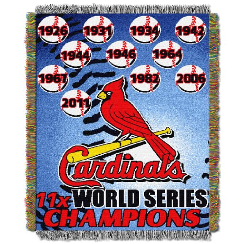 Cardinals CS OFFICIAL Major League Baseball, Commemorative 48 x 60 Woven Tapestry Throw