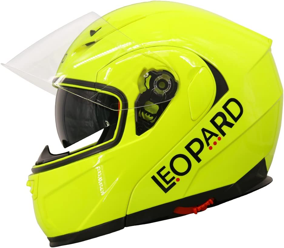 Leopard Outer Mirrored Visor LEO-838 flip up Motorbike Motorcycle Helmet