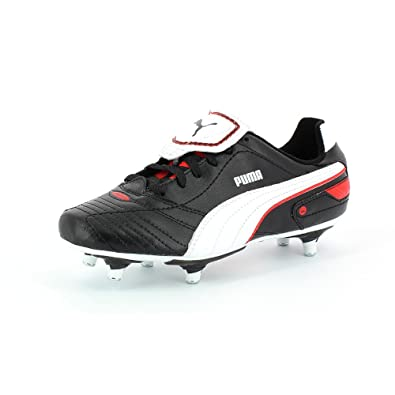 Puma Football Boots Studded Finale SG Jr Black White Red UK10 Infants-UK5 9536ba0d1