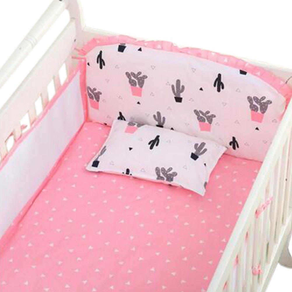 Set of 4 Nursery Baby bassinet/Crib Bedding Bumper Crashproof Cushion Sailing