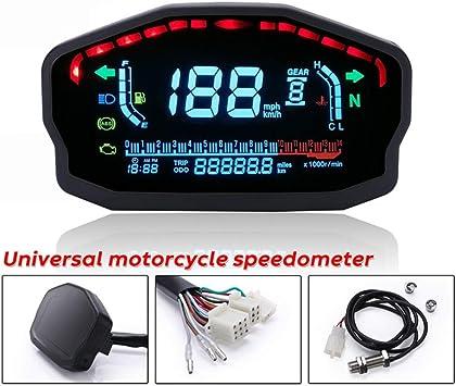 Contachilometri per contachilometri contagiri contachilometri digitale digitale regolabile modificato per motocicletta universale