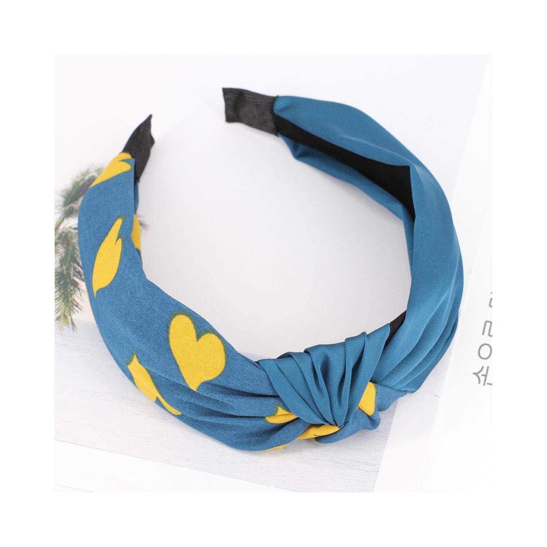 1Pcs Women Scarf Girls Hair Chie Knot Heart Heads Elastic Twist Turban Headwrap,8
