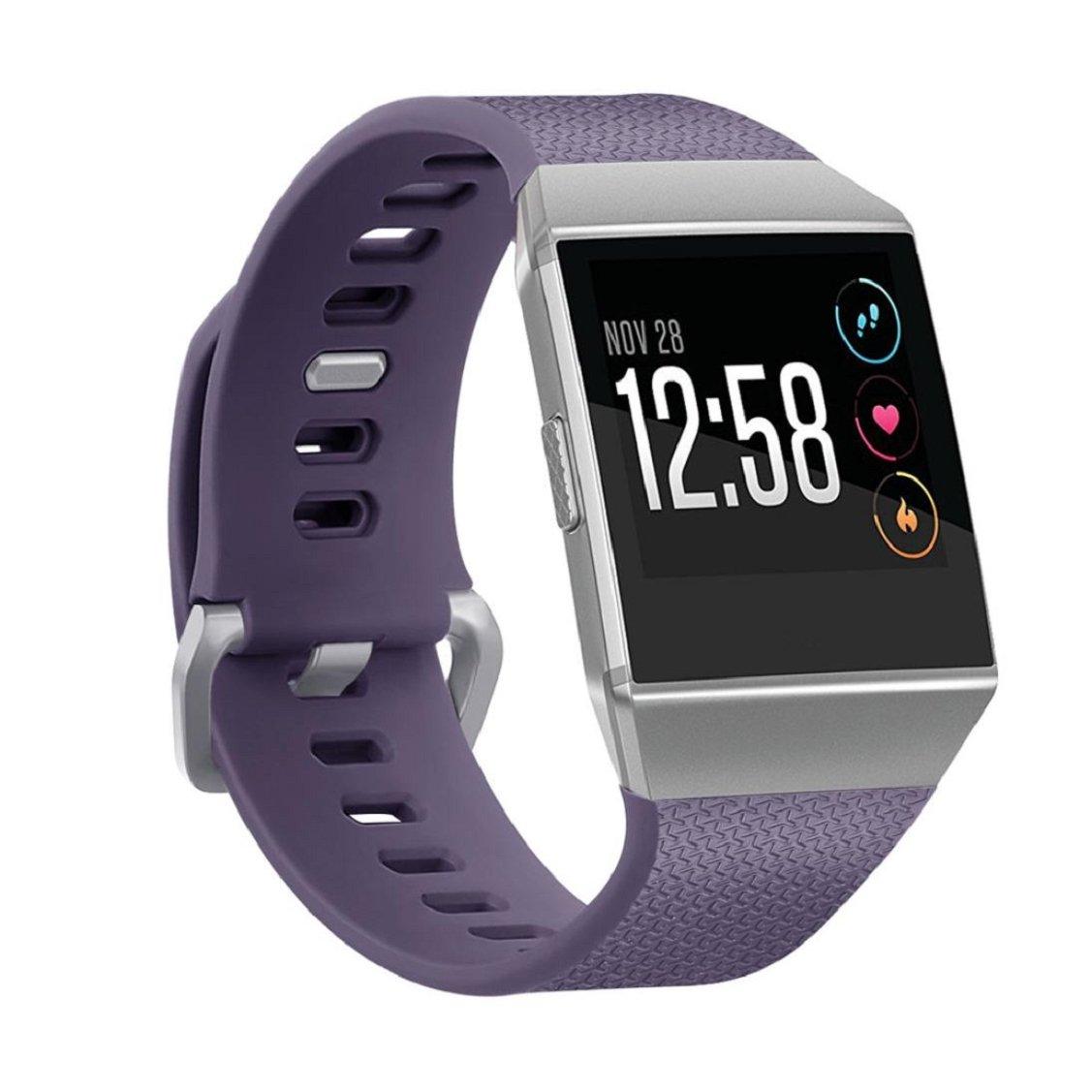 For Fitbit Ionic Watchバンド、vovomayソフトシリコン交換バンドスポーツフィットネスリストバンドファッションストラップfor Fitbit Ionic Smartwatch、スモール  パープル B076CKK8VW