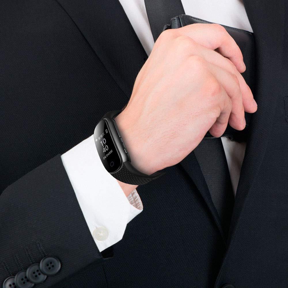 AOTUO Bracelet activ/é par la Voix 8 Go Bracelet num/érique Enregistreur Vocal Lecteur de Musique MP3 pour r/éunions entrevues