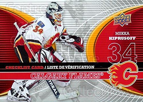 (CI) Miikka Kiprusoff Hockey Card 2008-09 McDonalds Upper Deck Goalie Checklist 1 Miikka Kiprusoff
