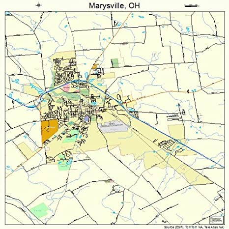 Marysville Michigan Map.Amazon Com Large Street Road Map Of Marysville Ohio Oh Printed