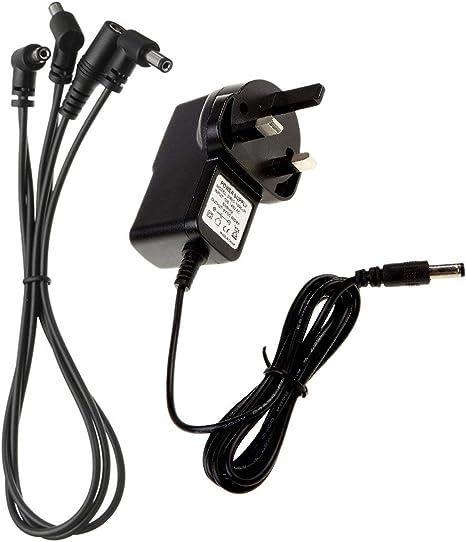Adaptador de fuente de alimentación de pedal de guitarra 9V DC 1A ...