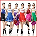 Sexy High School Cheerleading Skirts Cheer Costume Complete Outfit Multi Colors